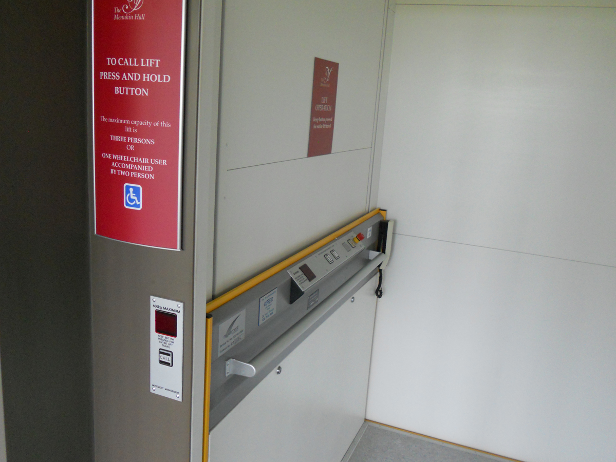 Menuhin Hall Lift