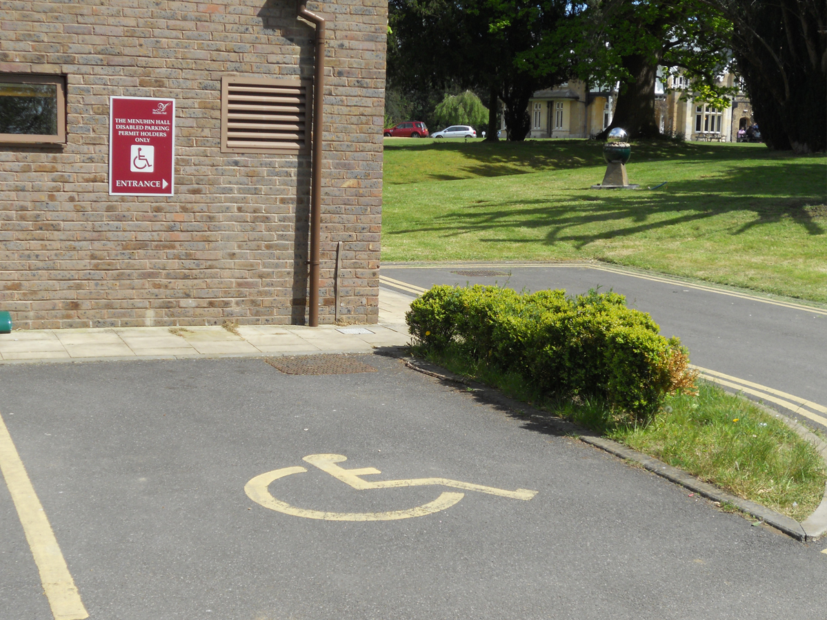 Menuhin Hall Disabled Parking Space